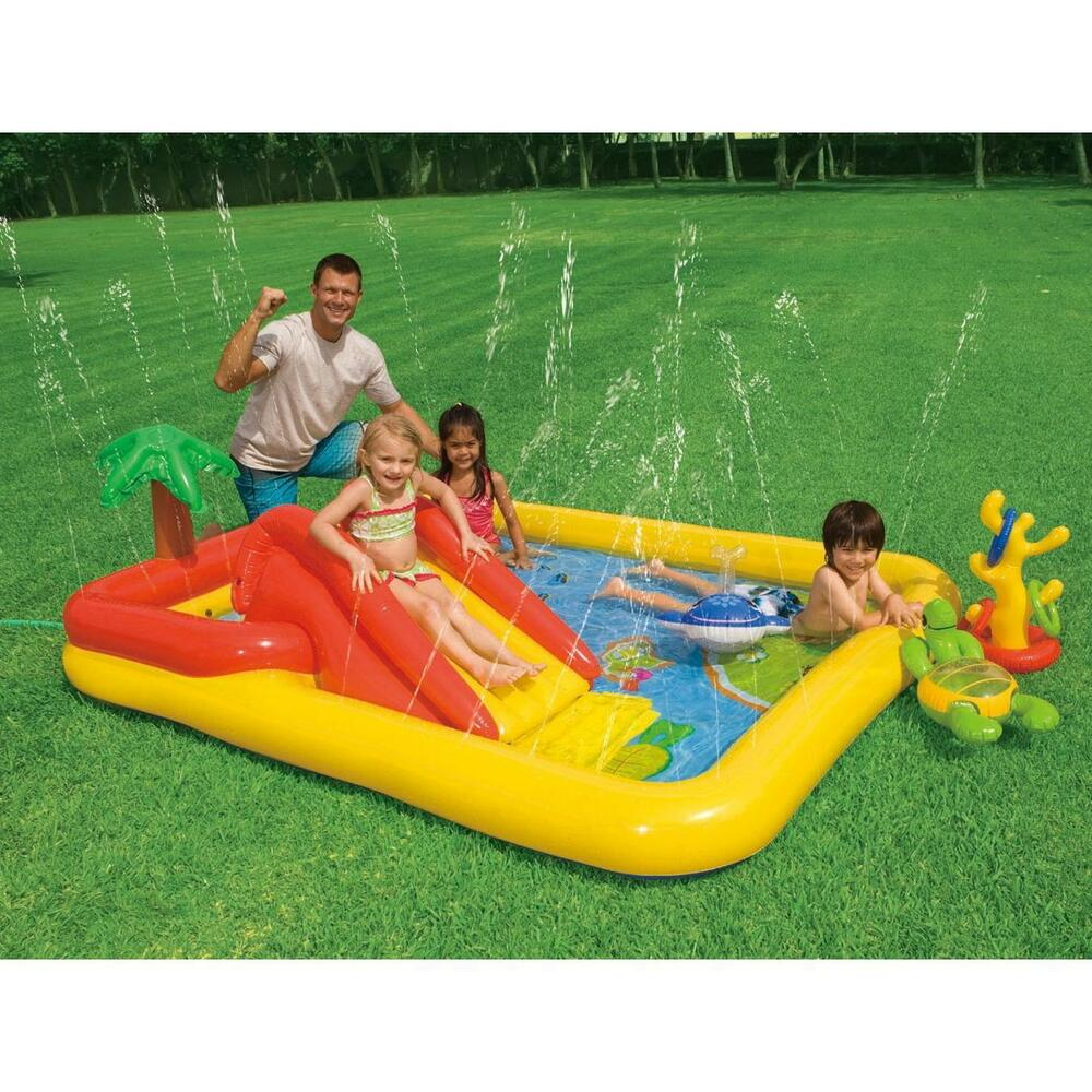 Intex ocean play kids activity water play centre paddling for Small paddling pool
