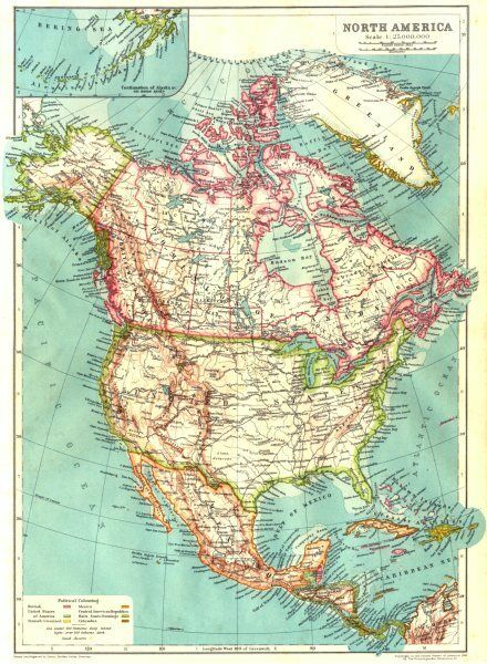 North America Usa Mexico Canada West Indies Central America 1910