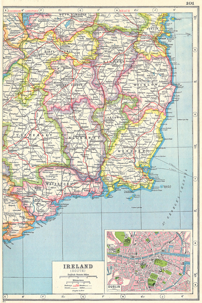 Ireland South East Wexford Kilkenny Waterford Carlow C Inset