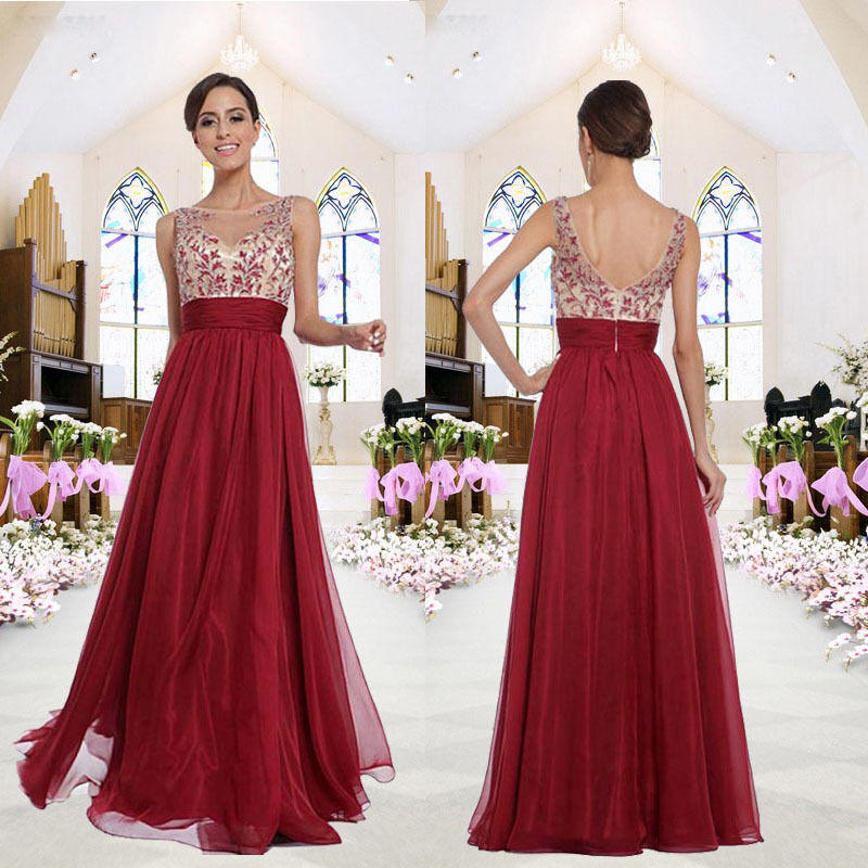 Womens Party Ball Prom Gown Formal Bridesmaid's Lady
