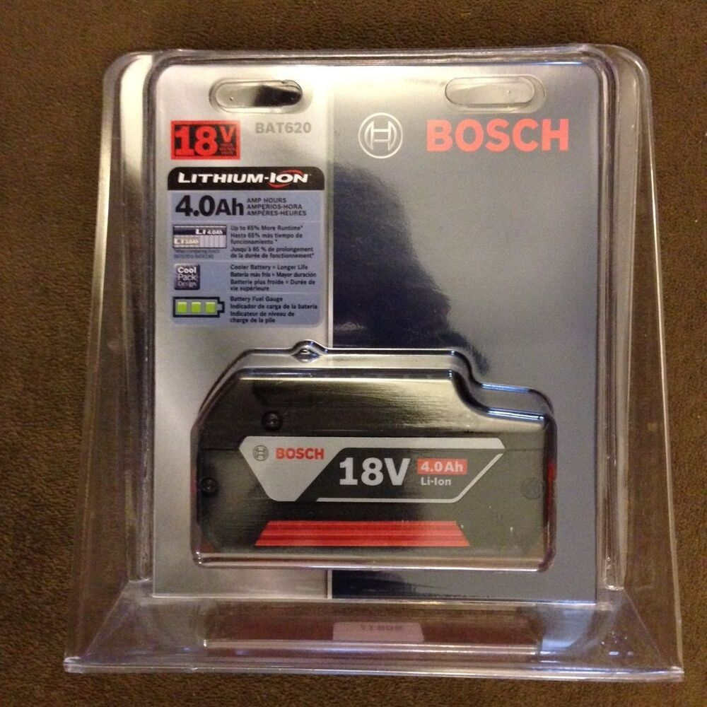 new bosch bat620 18v 18 volt 4 0ah lithium ion battery fatpack li ion nib ebay. Black Bedroom Furniture Sets. Home Design Ideas