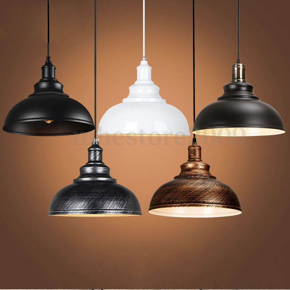 Vintage ceiling light retro pendant lamp industrial loft for Antique pendant light fixtures