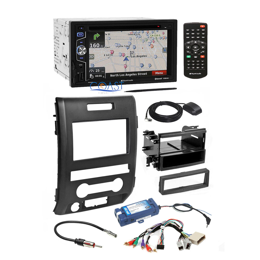 planet audio car bluetooth stereo dash kit swc interface for 2009 14 ford f 150 ebay. Black Bedroom Furniture Sets. Home Design Ideas