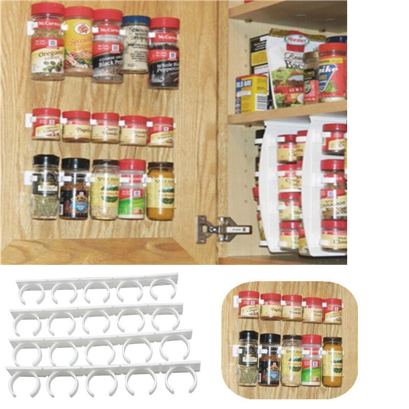 Wall Cabinet Spice Rack: Spice Storage Rack Wall Cabinet Door Jars Organizer