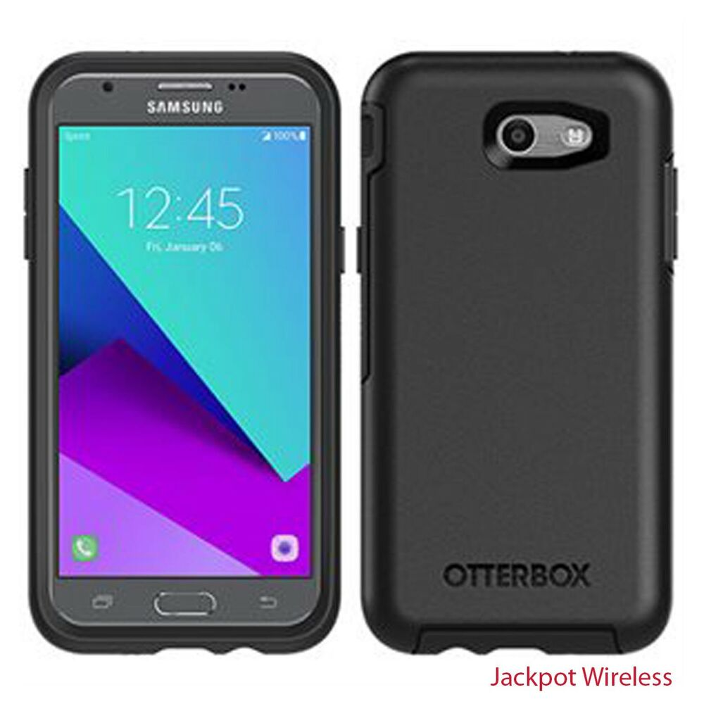 authentic otterbox symmetry cell phone case for samsung galaxy j3 emerge black 695974947255 ebay. Black Bedroom Furniture Sets. Home Design Ideas