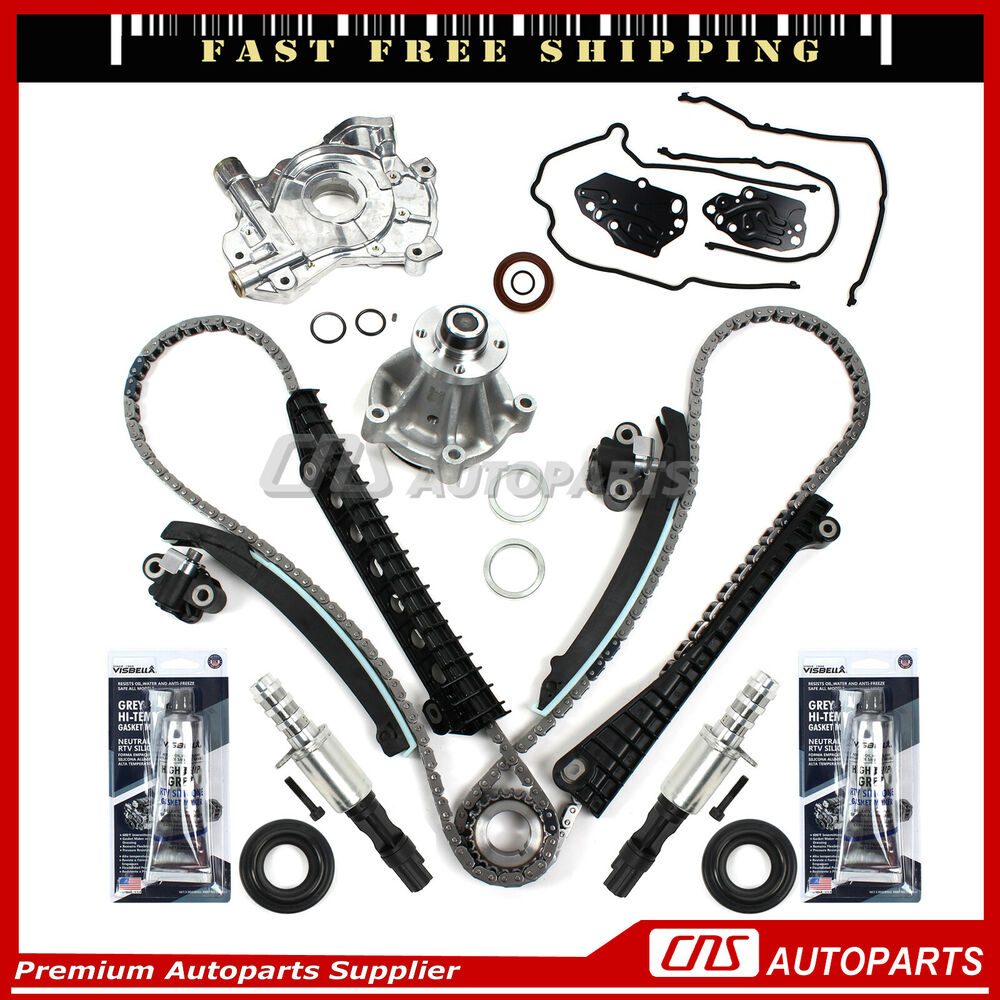 Timing Chain Kit Cam Phasers Cover Gasket 04-08 Ford F150