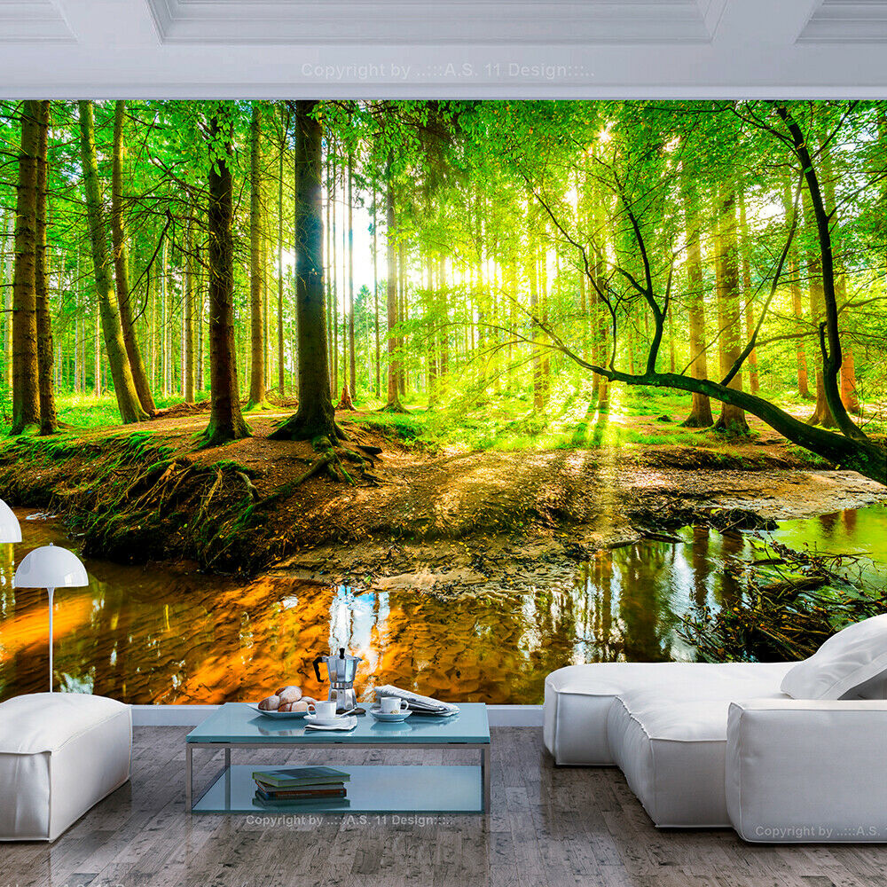 fototapete wald vlies tapete xxl wandbild natur landschaft ausblick c b 0241 a a ebay. Black Bedroom Furniture Sets. Home Design Ideas