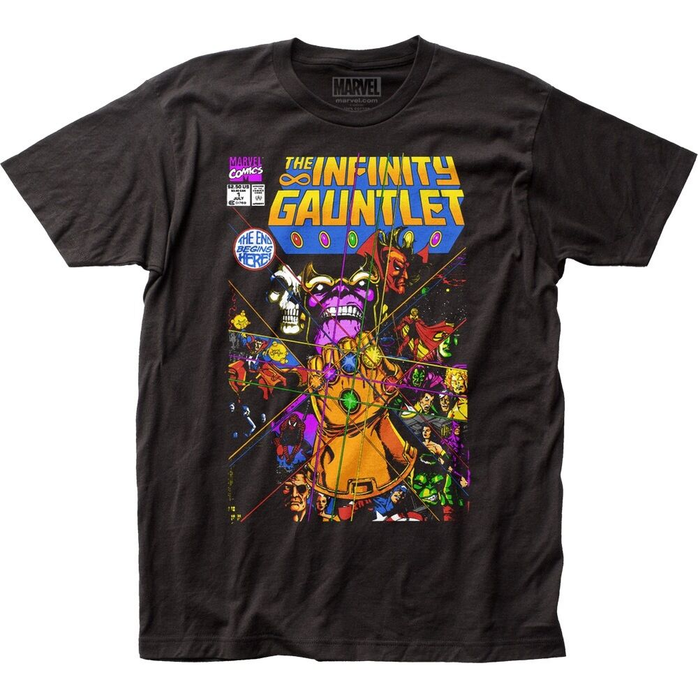 Classic Book Cover T Shirts : Official marvel thanos the infinity gauntlet comic book