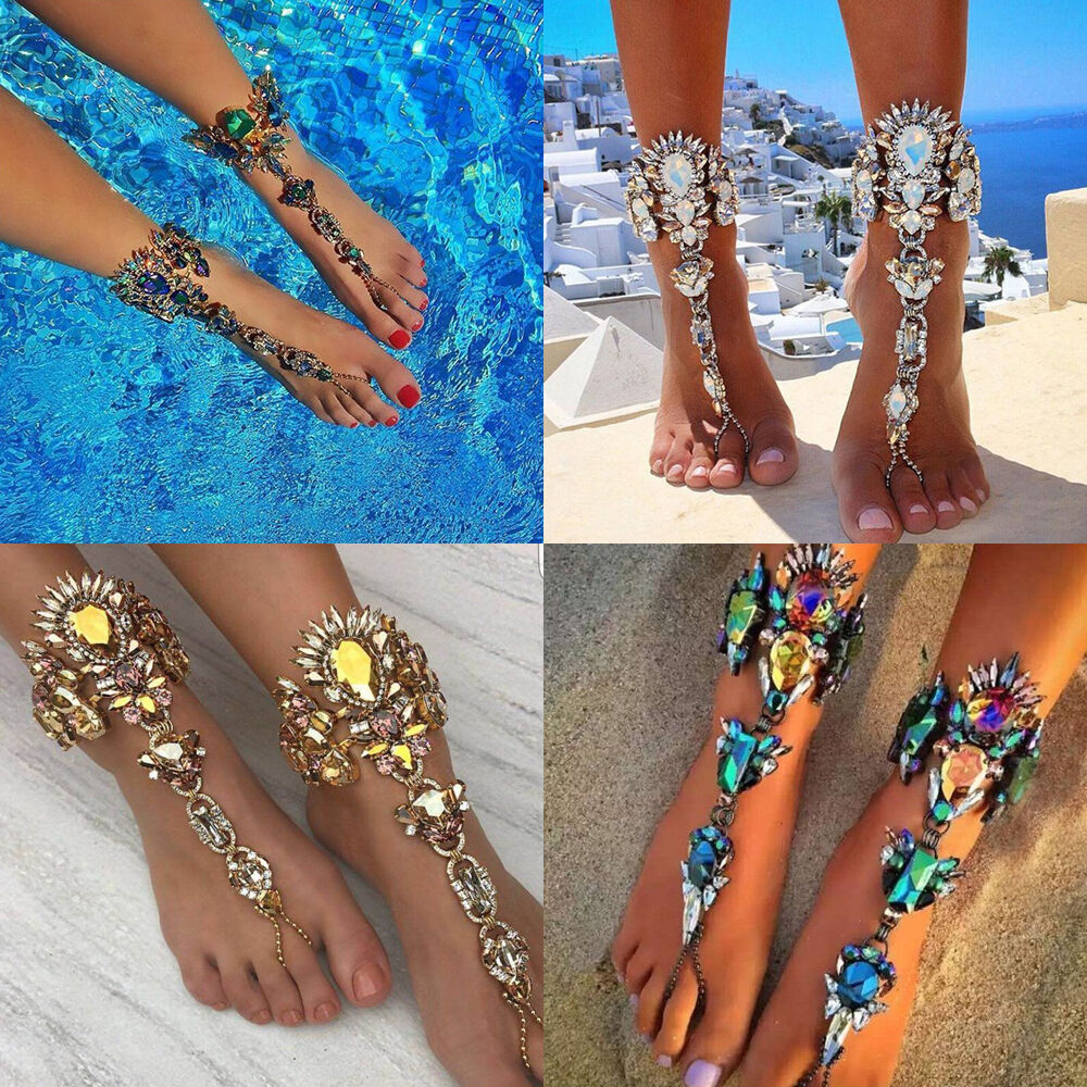1X Women Chain Summer Beach Indian Style Anklet Ankle ...