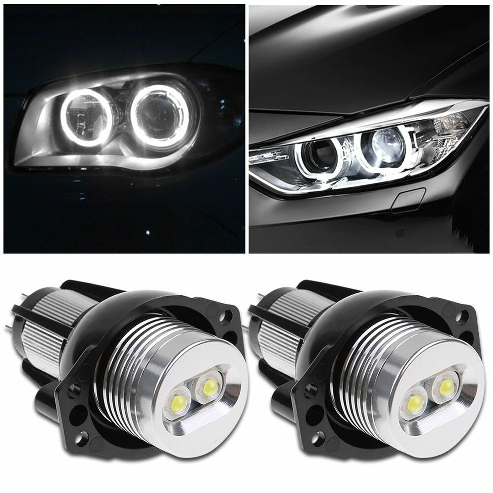2x error free cree angel eyes led halo ring light bulbs for bmw e90 e91 3 series ebay. Black Bedroom Furniture Sets. Home Design Ideas