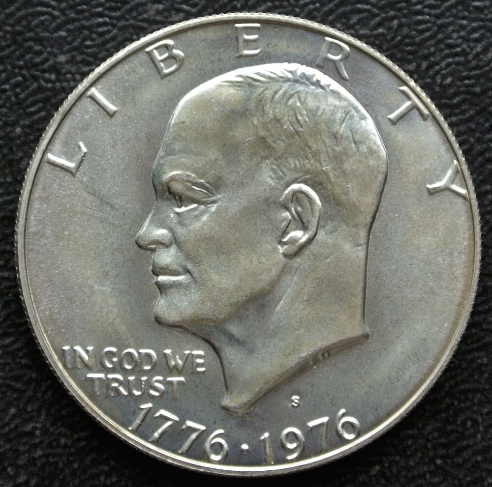 1776 1976 S Usa One Dollar Silver Eisenhower
