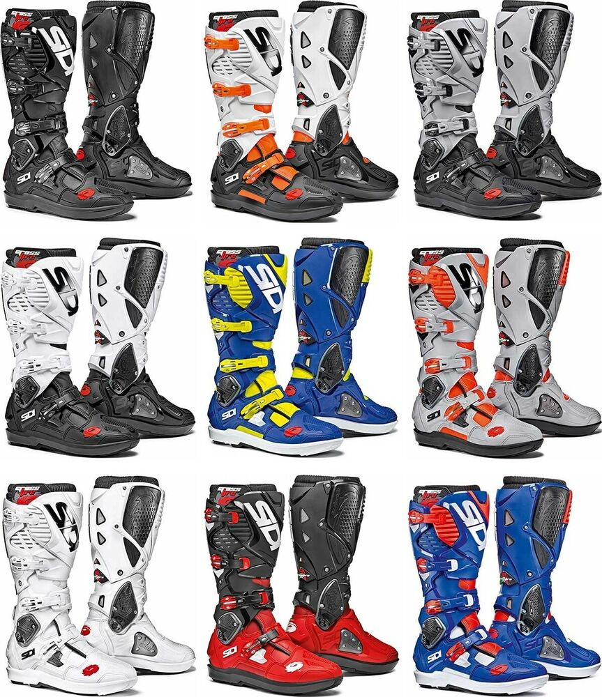 sidi crossfire 3 srs boots motocross dirtbike offroad ebay. Black Bedroom Furniture Sets. Home Design Ideas