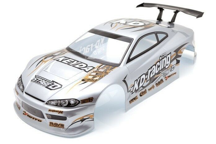 rc car karosserie 1 10 nissan s15 silber drift 190mm. Black Bedroom Furniture Sets. Home Design Ideas