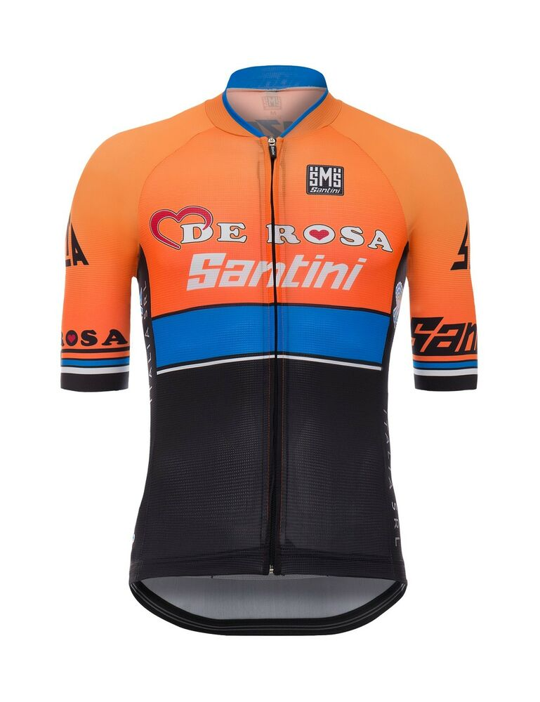 Details about 2017 Team De Rosa - Santini Sleek 99 Aero Cycling Jersey  by  Santini b78064f33