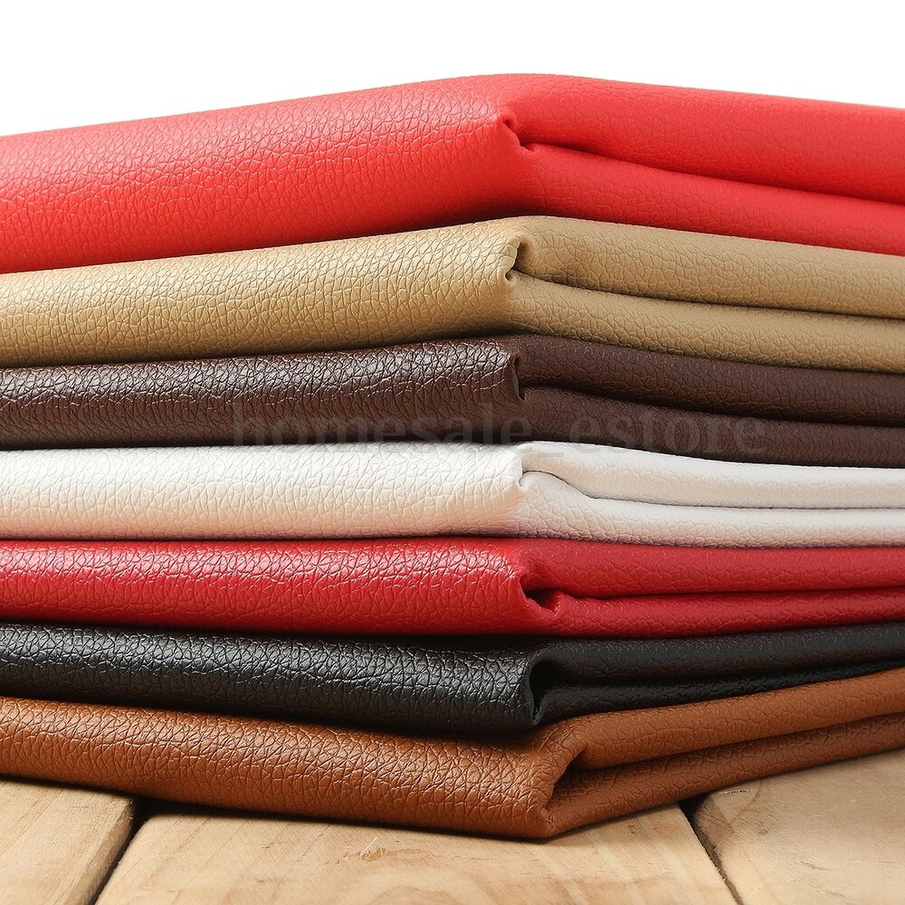 Pu Leather Fabric Solid Color Car Interior Upholstery Home