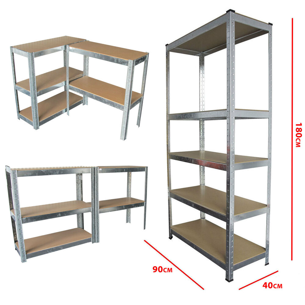 storage shelving units boltless 5 tier heavy duty garage storage metal steel 26896