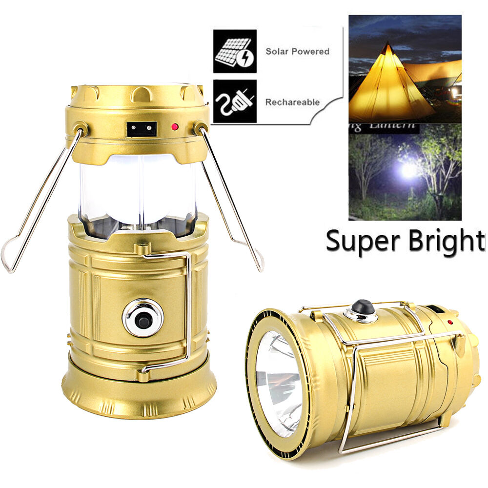 us portable led usb solar rechargeable lantern outdoor camping hiking lamp light ebay. Black Bedroom Furniture Sets. Home Design Ideas