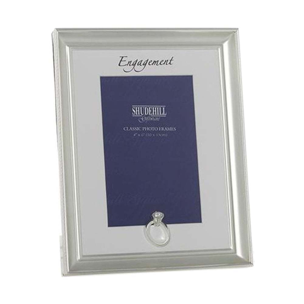 Shudehill Giftware Silver Coloured Engagement 5 x 7 Photo Picture ...