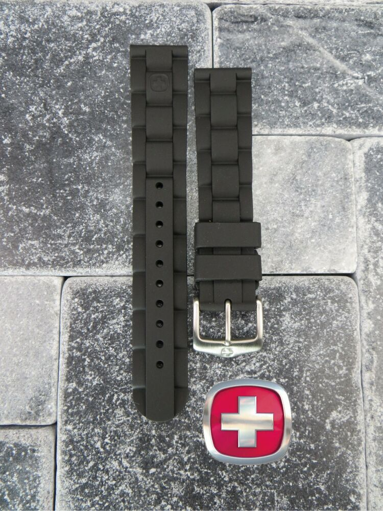 New Victorinox Swiss Army Rubber Strap Black Diver Watch