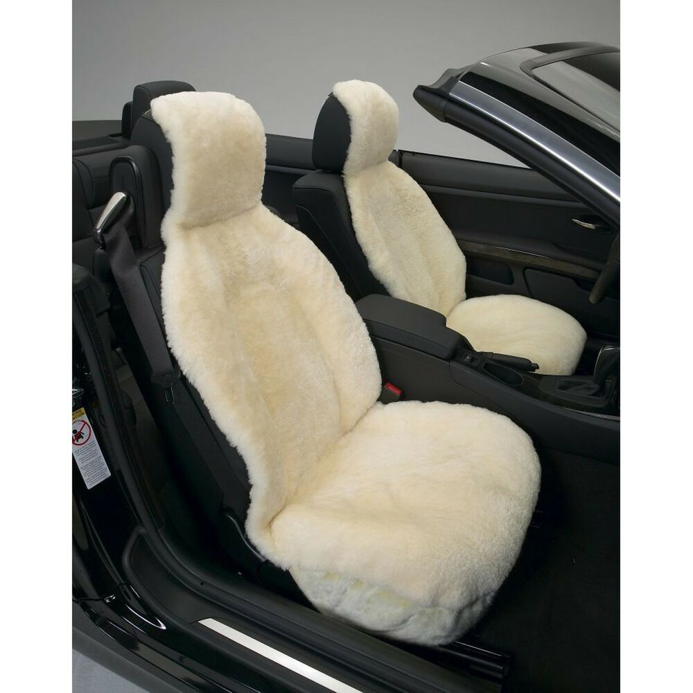 Generic Genuine Australian Sheepskin Sideless Seat Cover