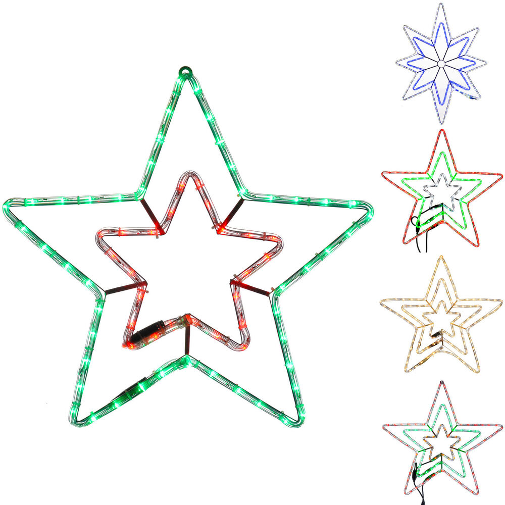 Werchristmas Star Silhouette Led Rope Lights With Flash Effect 72 Light Wiring Diagram Box Contains