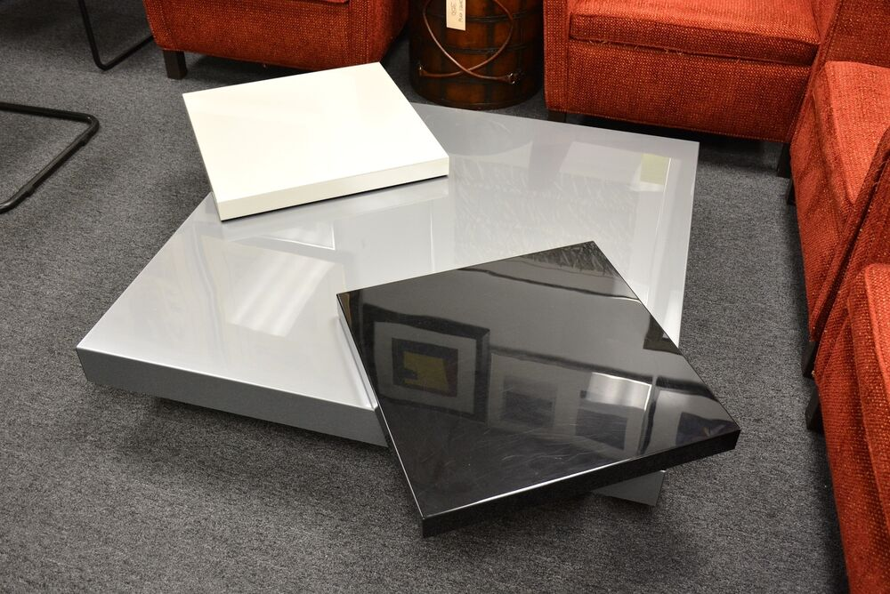 Ultra Contemporary Roche Bobois Made In France Modern Coffee Table Swivel Trays Ebay