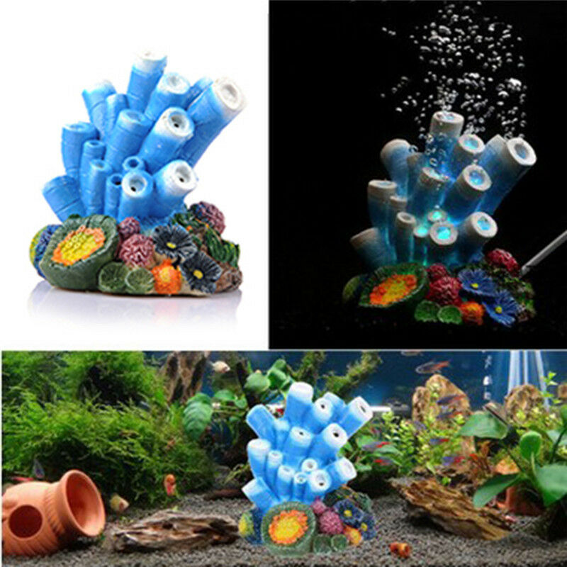 Aquarium resin simulation coral bubble air stone marine for Aquarium coral decoration