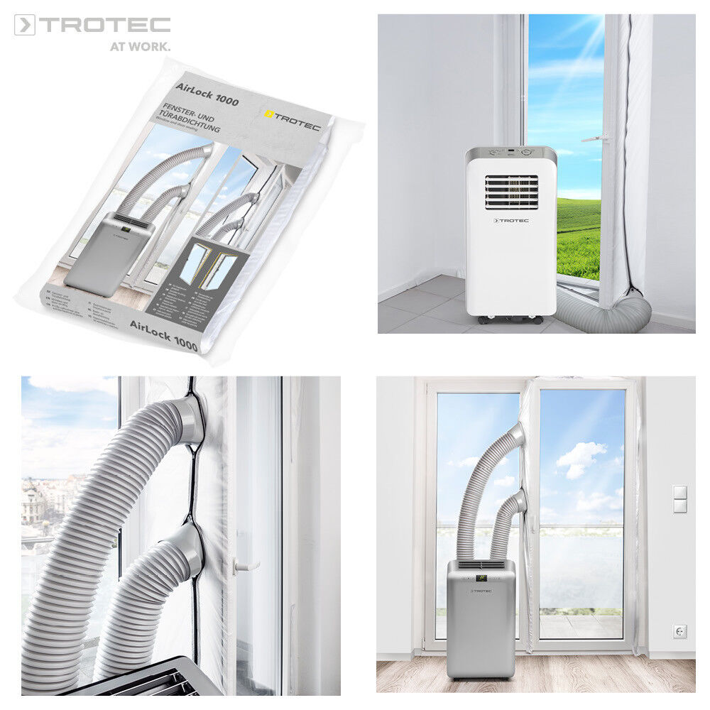 airlock 1000 hot air stop klimager t mobile klimaanlage fensterabdichtung klima ebay. Black Bedroom Furniture Sets. Home Design Ideas