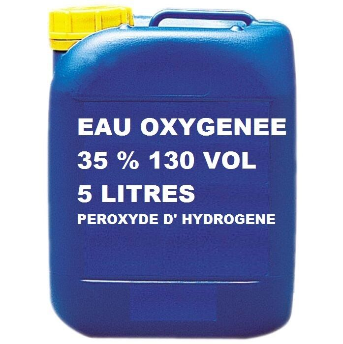 eau oxygenee 35 130 volume peroxyde d 39 hydrogene eau oxyg n 5 litres ebay. Black Bedroom Furniture Sets. Home Design Ideas