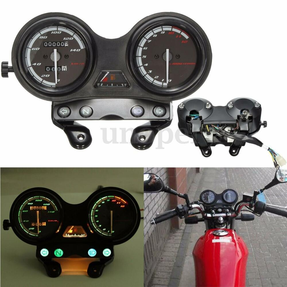 Speedo Speedometer Tachometer Complete Clocks in Km/h for YAMAHA YBR ...