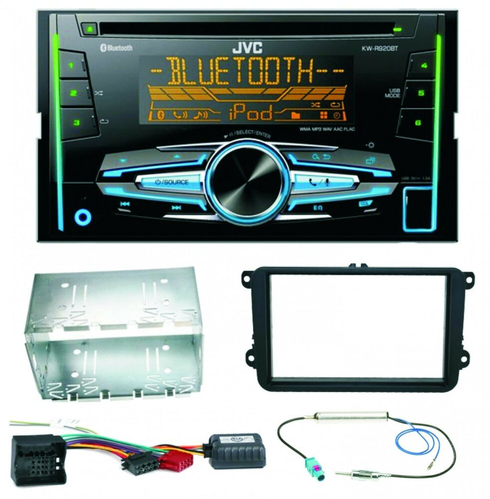 jvc kw r920bt usb autoradio bluetooth einbauset f r skoda. Black Bedroom Furniture Sets. Home Design Ideas