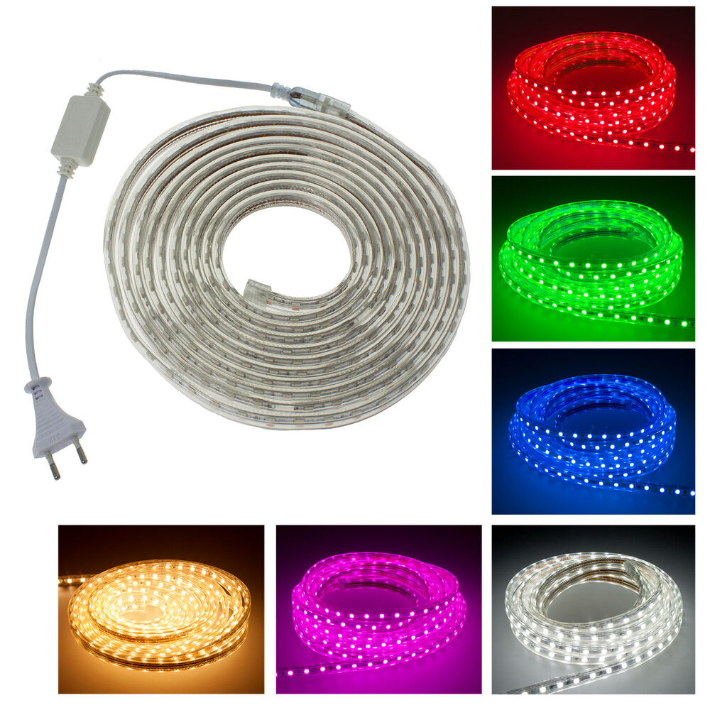 5050 smd led strip lichtleiste lichterkette lichtband licht schlauch streifen ebay. Black Bedroom Furniture Sets. Home Design Ideas
