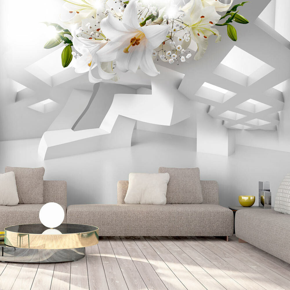 vlies fototapete 3d optik tapete blumen wandbild wandtapete lilien a a 0296 a a ebay. Black Bedroom Furniture Sets. Home Design Ideas
