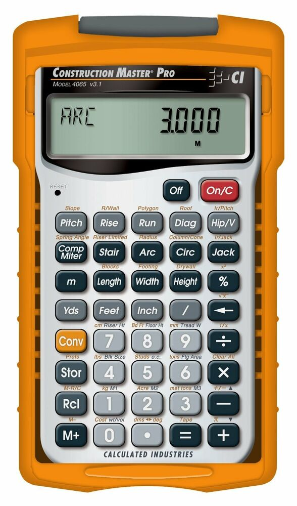 New calculated industries 4065 master pro construction for New construction calculator