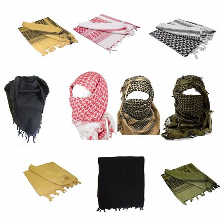 img-100% Cotton SHEMAGH HEADSCARF - Colour Option - Military Keffiyeh Arab Army Wrap