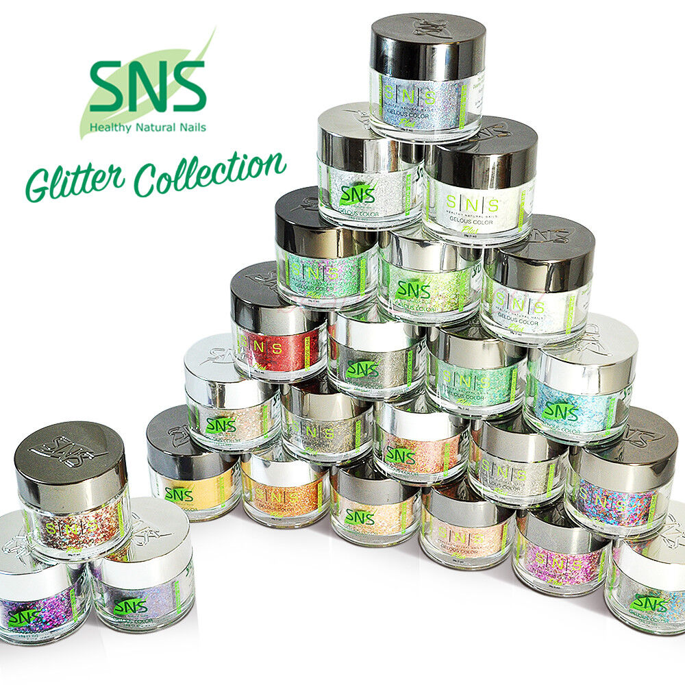 SNS Dipping Powder Glitter Collection GL01-GL24 1oz/30g