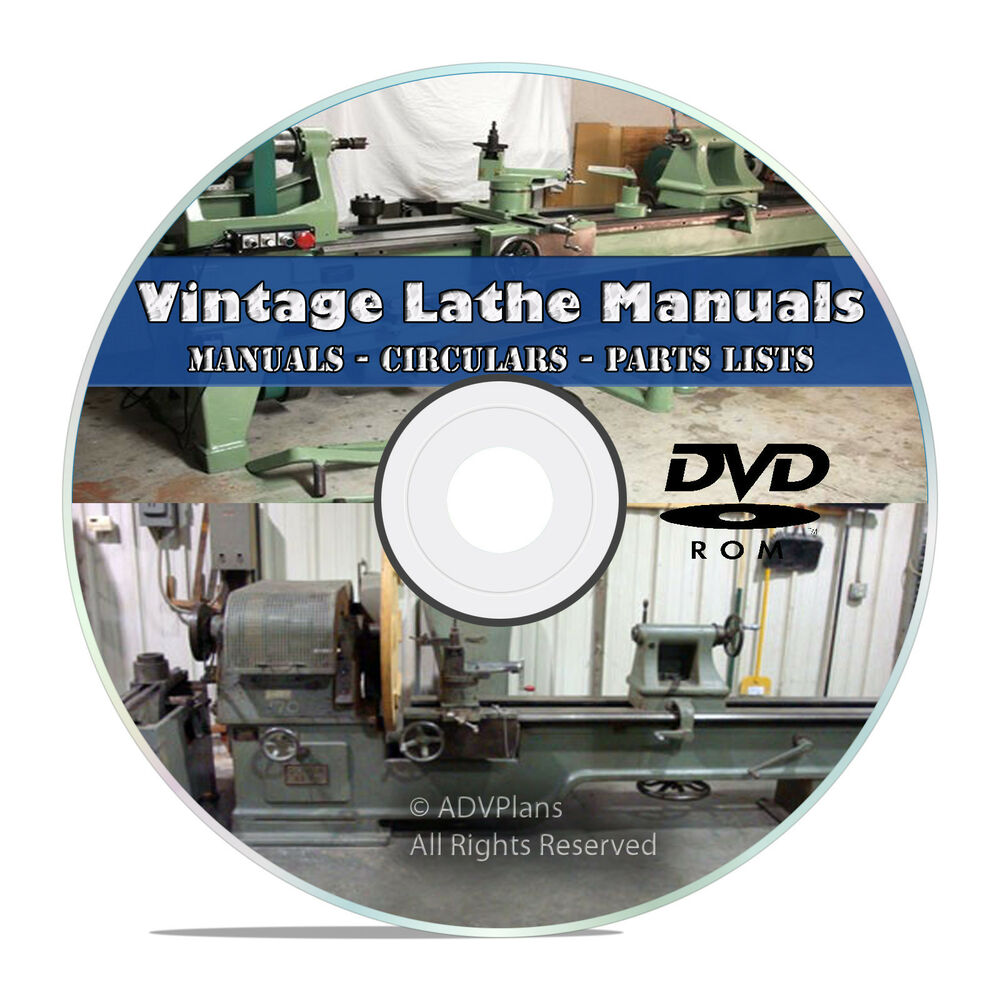 350+ Lathe Owners Manuals, Instructions, Parts List, American Tool Oliver  CD V46 741533275069 | eBay
