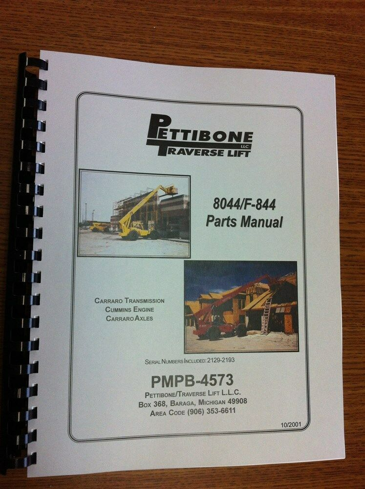 pettibone traverse 8044 f 844 extendo forklift parts manual ebay rh ebay com Traverse Lift Reach Chevy Traverse Lifted