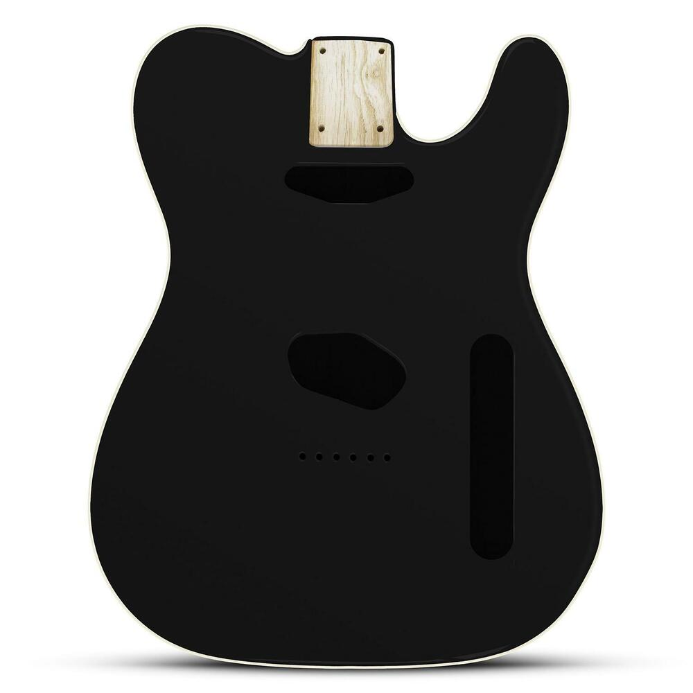 Black Gloss Body For Telecaster, American Ash, With Cream
