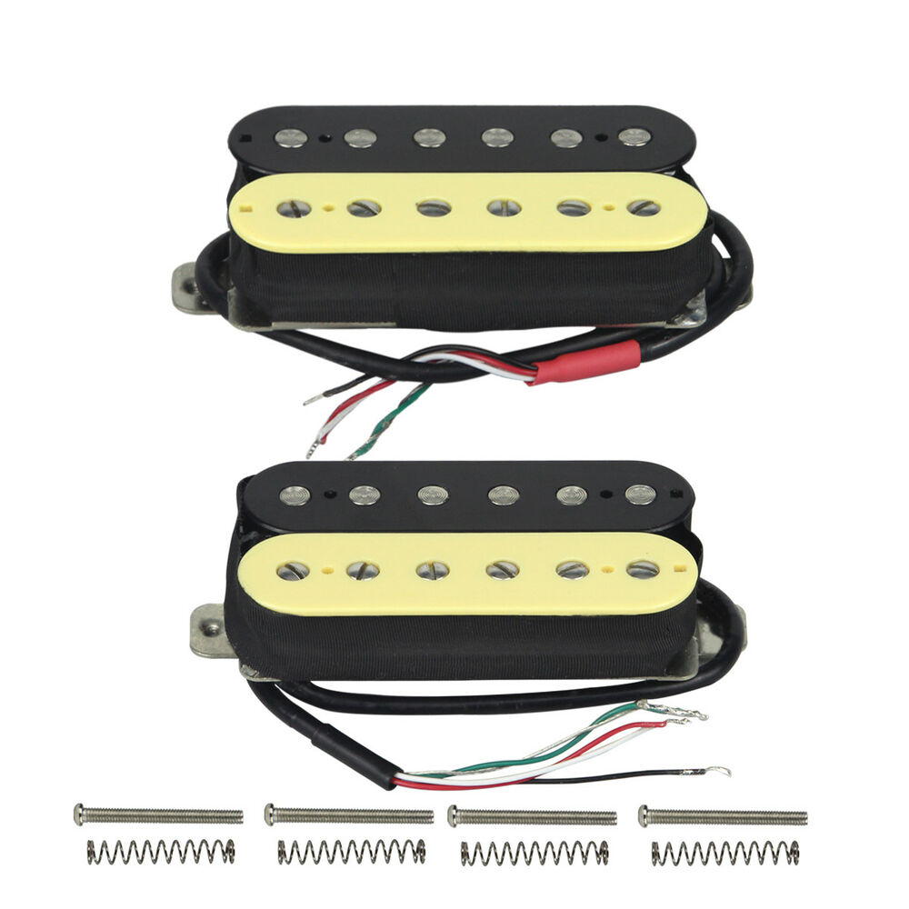 set alnico 5 zebra humbucker pickups guitar double coil pickups neck bridge 600685810675 ebay. Black Bedroom Furniture Sets. Home Design Ideas