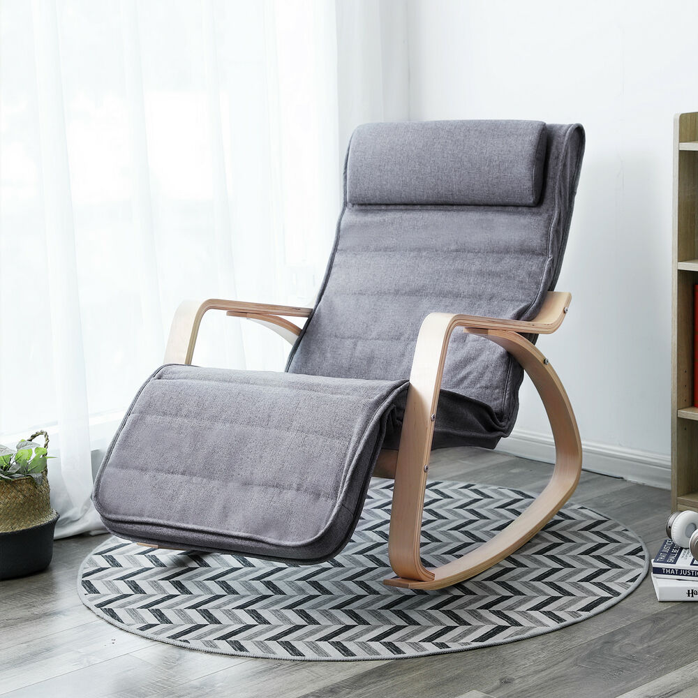 Rocking Chair Relax Chair Armchair Recliner with ...