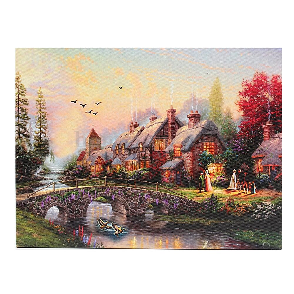 Led Luminous Country Scenes Canvas Art Lighted Painting