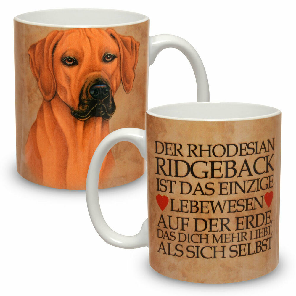 kaffee tasse becher mit motiv hund gro e xxl rhodesian ridgeback ebay. Black Bedroom Furniture Sets. Home Design Ideas