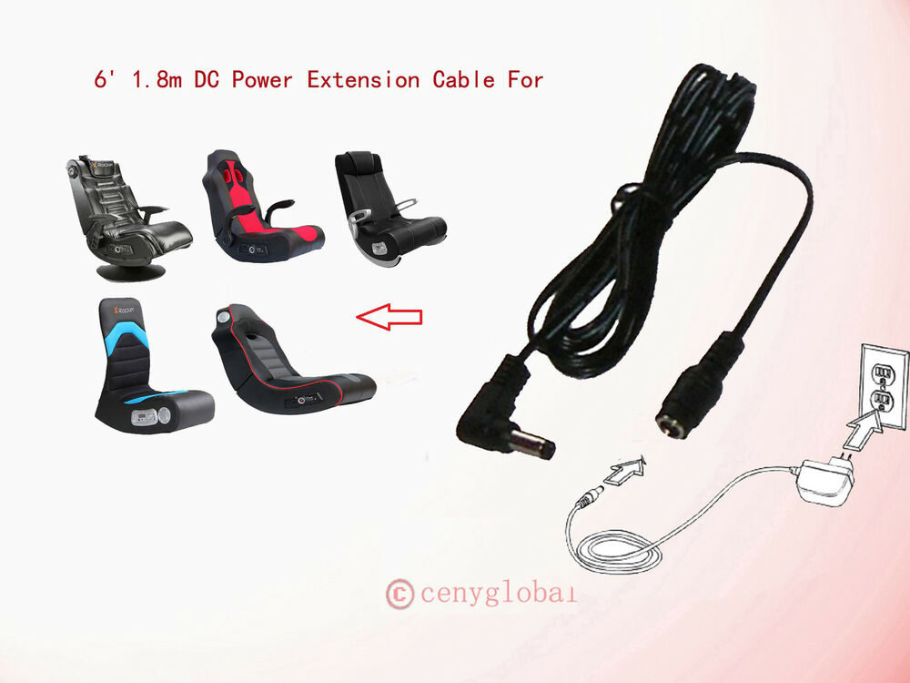 Extension Power Cable Cord For X Rocker Sound Video Audio