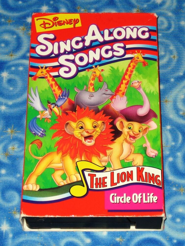 disney sing along songs circle of life vhs video tape excellent tested condition ebay. Black Bedroom Furniture Sets. Home Design Ideas