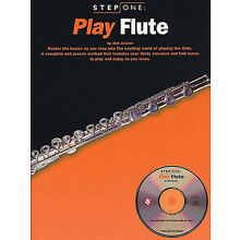 Play Flute Beginner Lessons Learn How to Play Music Step One Book CD Pack NEW
