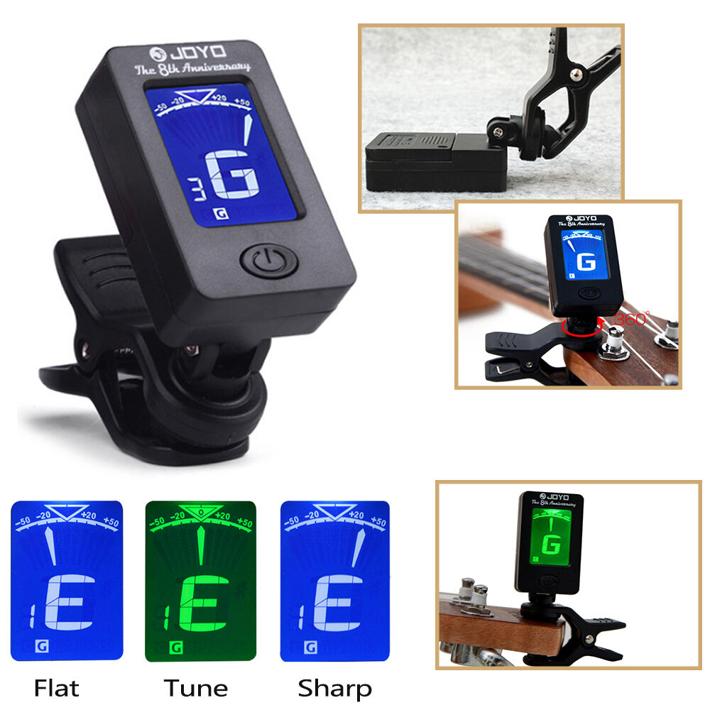 led clip on electronic digital guitar tuner electric guitar bass ukulele jt 01 ebay. Black Bedroom Furniture Sets. Home Design Ideas