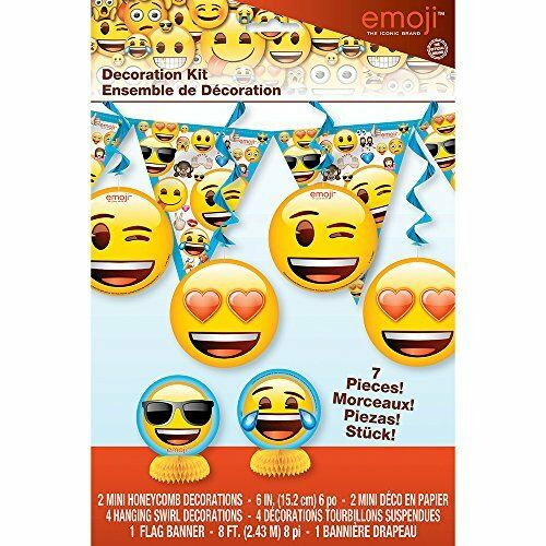 Details About EMOJI DECORATION KIT 7pc Birthday Party Supplies IPhone Android Text Message