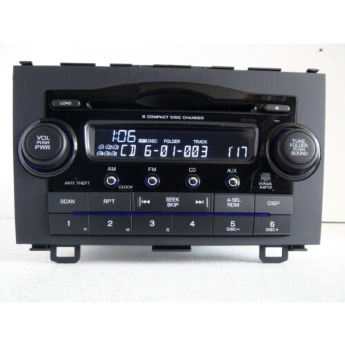 honda-crv-20072009-6disc-cd-mp3-wma-player-changer-1xn0-wcode-tested
