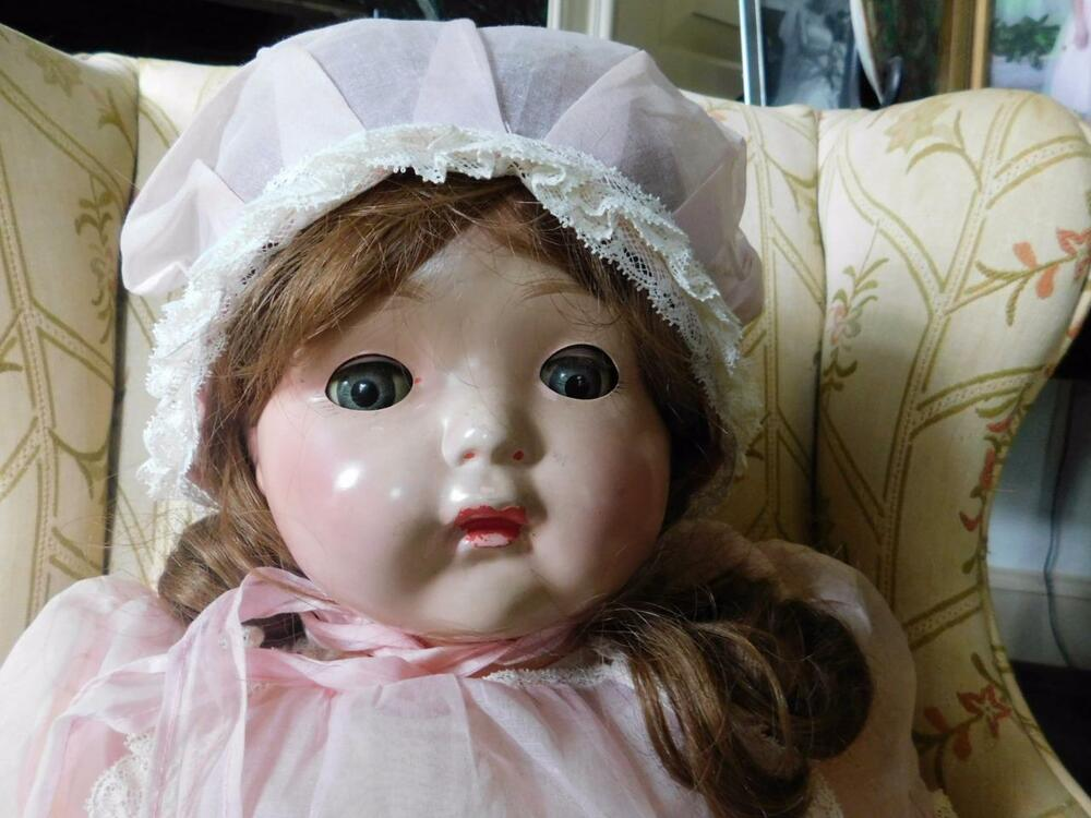 "VINTAGE EFFANBEE LARGE 29"" MAMA DOLL ORIGINAL DRESS"